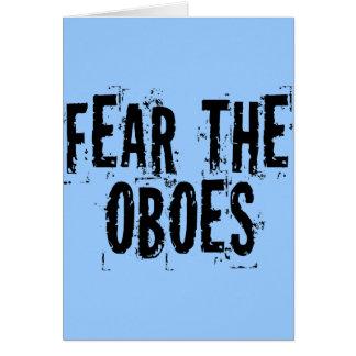 Tema la tarjeta de Oboes