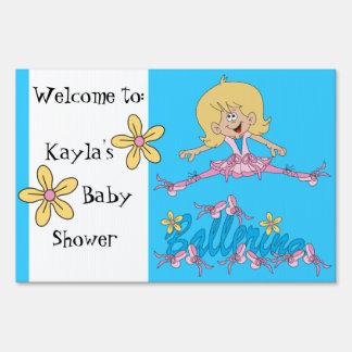 Tema lindo de la fiesta de bienvenida al bebé de carteles
