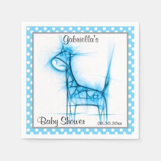 Tema lindo de la fiesta de bienvenida al bebé de servilleta de papel