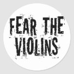 Tema los violines pegatina redonda
