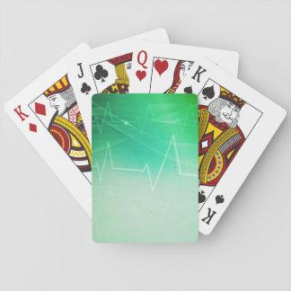 Tema médico verde barajas de cartas