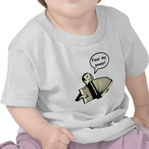 Tema mi poder (el acordeón) camiseta