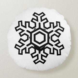 Tema mínimo redondo del copo de nieve de la cojín redondo