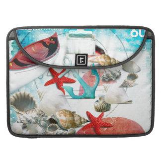 Tema náutico de la playa de las estrellas de mar d fundas macbook pro