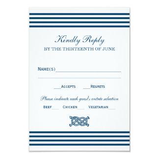 Tema náutico de las rayas de la tarjeta el | de invitación 8,9 x 12,7 cm
