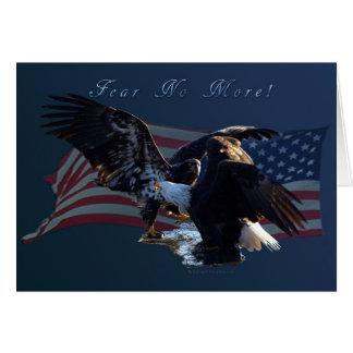 """¡""""Tema no más! """"Regalo de la bandera de Eagle/US"""