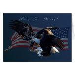 """¡""""Tema no más! """"Regalo de la bandera de Eagle/US Felicitaciones"""