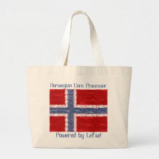 Tema noruego de la placa madre bolsa tela grande