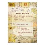 Tema nupcial de la ducha del viaje en cacao y invitación 12,7 x 17,8 cm