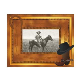 Tema occidental con la plantilla de la foto de la  impresion en lona