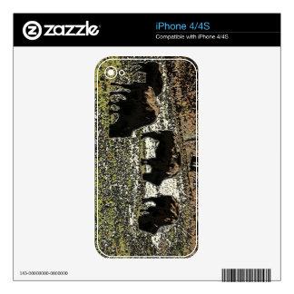 Tema occidental del oeste salvaje del arte del búf iPhone 4S calcomanías