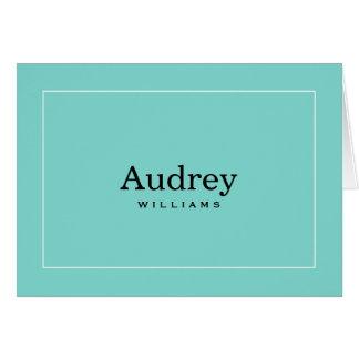 Tema personalizado de la caja azul de las tarjetas
