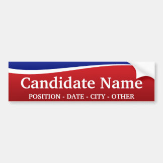¡Tema político - modifique a esta pegatina para el Etiqueta De Parachoque