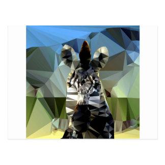 Tema polivinílico bajo africano de la cebra postal