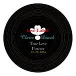 Tema retro blanco y negro de la música del disco comunicados personalizados
