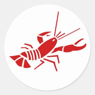 Tema rojo de los pegatinas el | Sealife de la Pegatina Redonda