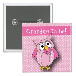Tema rosado de la fiesta de bienvenida al bebé del chapa cuadrada 5 cm