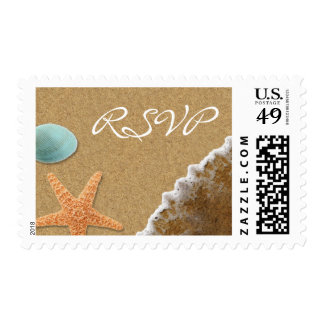 Tema RSVP de la arena y de la playa de las Sello