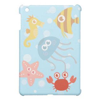 Tema subacuático con los animales de mar adorables
