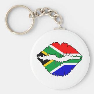 Tema surafricano del beso llavero redondo tipo pin
