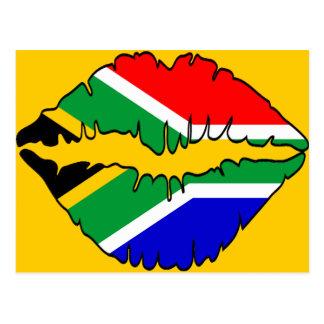 Tema surafricano del beso tarjetas postales