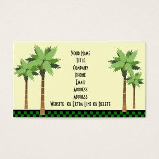 Tema tropical de encargo de la playa del océano de tarjetas de visita