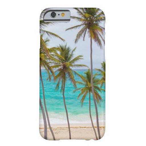 Tema tropical de la playa funda de iPhone 6 barely there