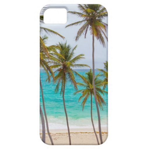 Tema tropical de la playa iPhone 5 cárcasa