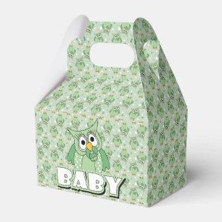 Tema verde de la fiesta de bienvenida al bebé del caja para regalos