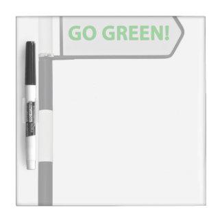 Tema verde pizarra blanca
