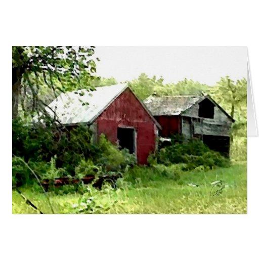 Temas de la granja tarjeta de felicitación