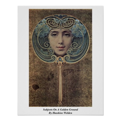 Temas en una tierra de oro de Hawkins Welden Poster