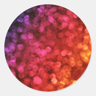 Temático abstracto superventas pegatina redonda