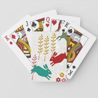 Temático adorable cartas de póquer