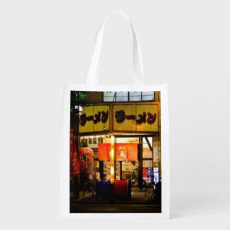 Temático japonés, mujer dentro de los Ramen Restau Bolsas Para La Compra