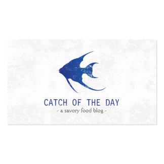 Temático náutico Caucho-Sellado azul de los Tarjeta De Visita