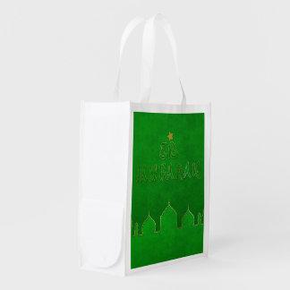 Temático verde de Eid Mubarak - bolso reutilizable Bolsa Reutilizable