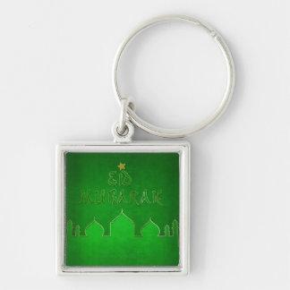 Temático verde de Eid Mubarak - llavero islámico