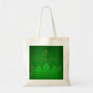 Temático verde de Eid Mubarak - tote del