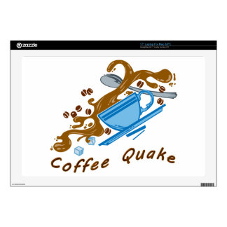 Temblor del café calcomanía para portátil