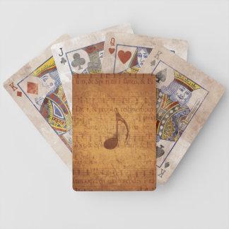 Temblor del vintage cartas de juego