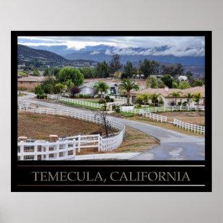 Temecula, poster de California