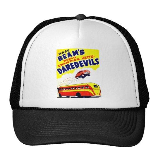 Temerarios del auto del vintage del kitsch gorras de camionero