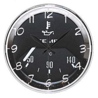 """Temp gauge"" design wall clocks"