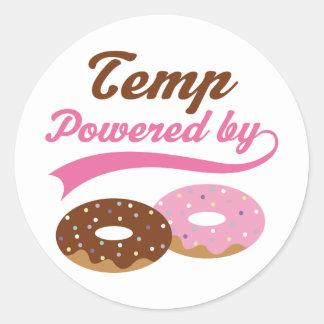 Temp Gift (Doughnuts) Round Stickers