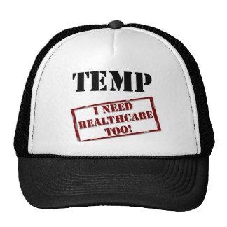 Temp no healthcare trucker hat