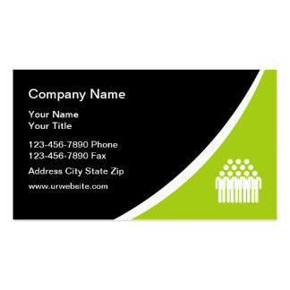 Temp Staffing Agency Business Cards