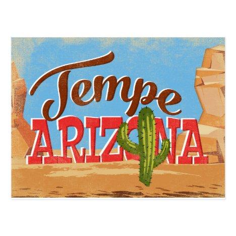 Tempe Arizona Vintage Travel Postcard