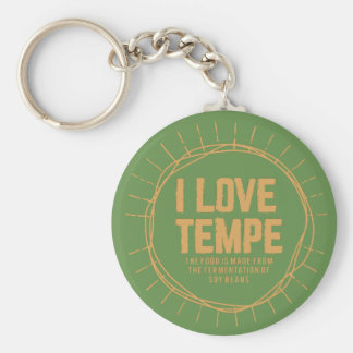 tempe or soybeans keychain