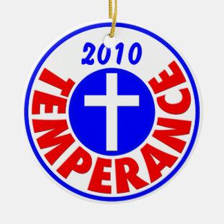 Temperance 2010 ceramic ornament